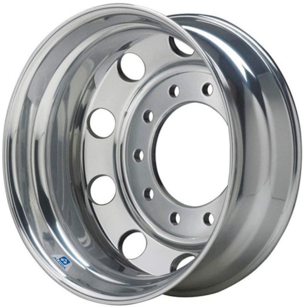 22.5x9 Polished Aluminum Drive/Trailer Wheel