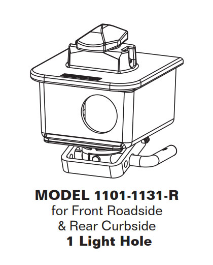 Twistlock Assembly, Non Retractable w/sidelight hole, right