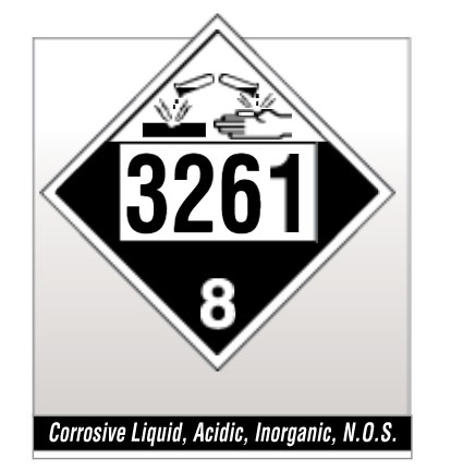 Placard - Class 8 Corrosive