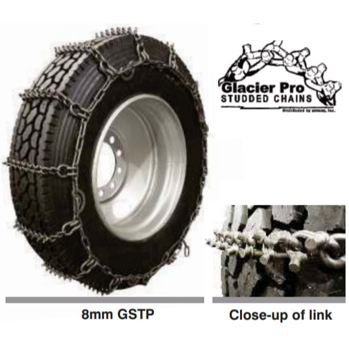 Glacier Pro 22.5 Studded Wide Base Tire Chain