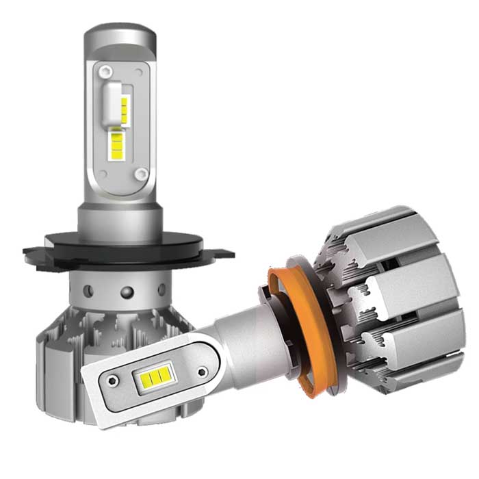 H11 LED Replacement Headlight Bulbs - 7K